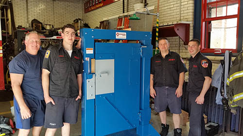 FDNY Engine 163 Ladder 83 Receive Forcible Entry Door Simulator